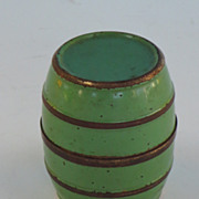 A Barrel shaped box concealing four liquor cups