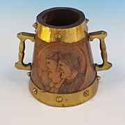 Dutch Brass/Oak Tankard