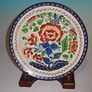 Gaudy Dutch Carnation Pattern Plate