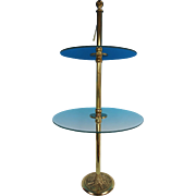 Glass and Brass Display stand
