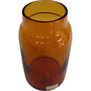 Large Amber Storage Jar