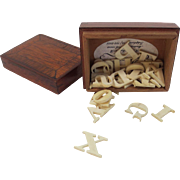 Alphabet Box with Bone Letters