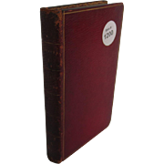 English Poetry Book with Red Moroccan Leather Binding