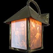 Brass Lithophane Lantern