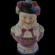 Figural Porcelain Trinket Box