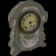 Large Green Wedgwood Style Clock