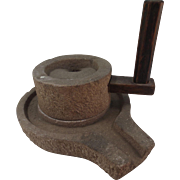 Carved Stone Corn Grinder