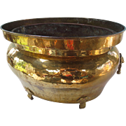 Very Large Brass Jardiniere with a Copper Insert