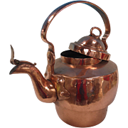Very Large Copper Tea Kettle With Movable Handle