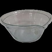 Very Fine Clear Glass Blown Milk Pan