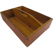 Early Cutlery Tray With a Reddish Brown Grain Finish