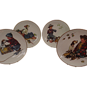 Norman Rockwell 4 Seasons Plates A Boy and His Dog 1971