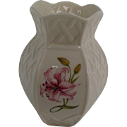 Small Decorated Belleek Vase