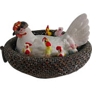Large Staffordshire Hen ( Lid Only ) in a Basket