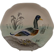 French Majolica Duck Plate