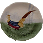 French Majolica Pheasant Plate