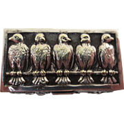 Small Silver Box with Bird Decoration