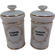 Pair of Porcelain Apothecary Jars