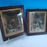 REDUCED Pair of Smugglers prints, England, 19th century