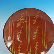 REDUCED Pennsylvania Redware Charger