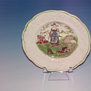 Staffordshire Pearlware Child's Plate