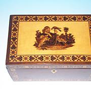 Tunbridgeware Tea Caddy Circa 1860-70