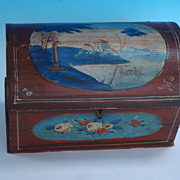 REDUCED Miniature Dome lid Decorated Chest