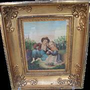 Framed Watercolour by Abraham Burman