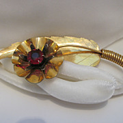SALE Large Signed Kilpatrick Gold-Filled Flower/Leave Brooch