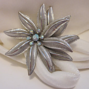 SALE Unique Cool Retro Silver-Tone Brooch