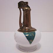 SALE Retro Table Top Brass & Ceramic Lighter