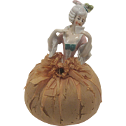 "Porcelain Pin Cushion Pin Cushion/Half Doll Made In Germany ""Marie Antoinette"""