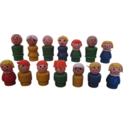 SOLD Hard to find Fisher Price wooden little people