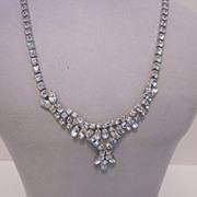 SALE Fabulous Sherman Rhinestone Necklace