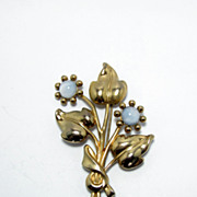 Vintage Coro Bouquet Of Flowers Brooch