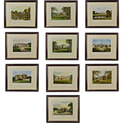 SALE Antique Series of 10 Prints featuring British Castles