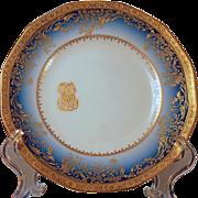 SALE Dinner Set for 12 Limoges Haviland Cobalt Gold Service, Presidential China second edition