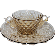 Vintage Venetian Glass Murano Swan Bowl Plate, 1 of 3