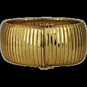 14K Gold Large Bracelet Italy