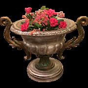 SALE Italian Vintage Wood Vases Planters Painted Jardeniers, circa 1980