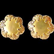 REDUCED French antique FIX gold fill art nouveau cufflinks