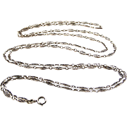 Antique French 800-900 silver lorgnette chain or long guard