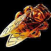 Art deco French cicada brooch Elizabeth Bonte / Georges Pierre