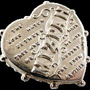 Antique Edwardian Sterling silver Mizpah heart brooch