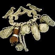 SALE PENDING Brazilian 900 silver Penca de Balangandan Slave brooch