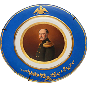 REDUCED Russian Imperial Porcelain Hand Painted Plate Nicholas I