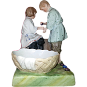 SOLD Russian Antique Porcelain Figurine From Series of ``Children``