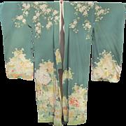 SALE Kimono Furisode ~ Hand Painted Yuzen on Silk ~