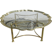 SALE Labarge cast brass and glass coffee/cocktail table - c.1950