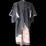 SALE Vintage Silk Japanese Kimono